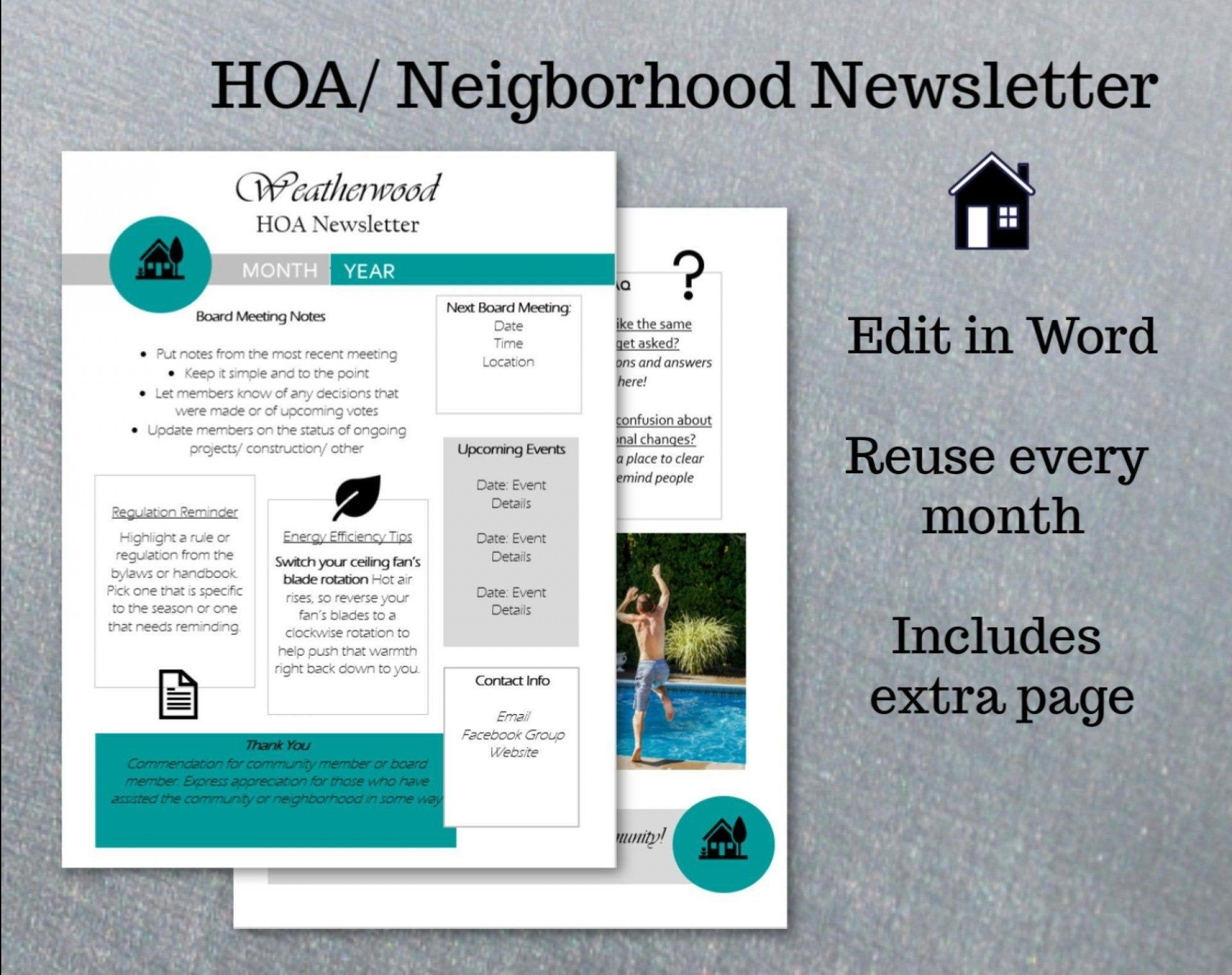002 Rare Word Newsletter Template Free Download High Definition  Document M 2007 Design1920
