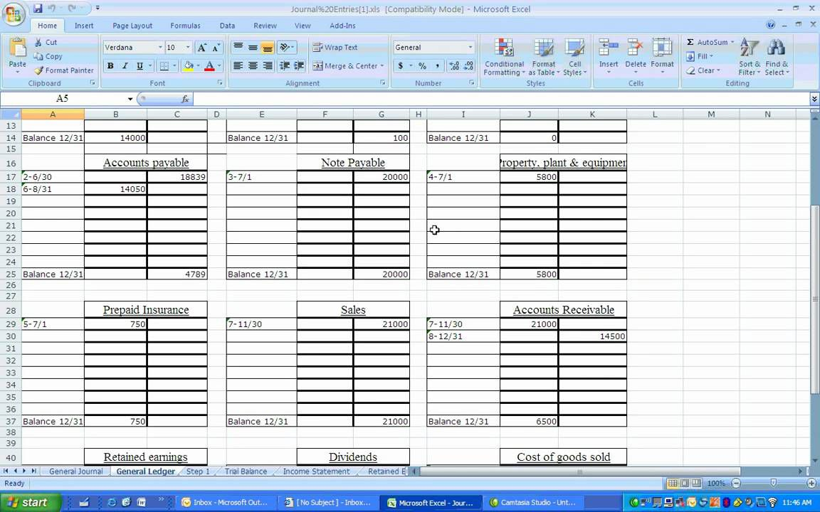002 Remarkable Accounting Journal Entry Template Excel Highest Quality  DoubleFull