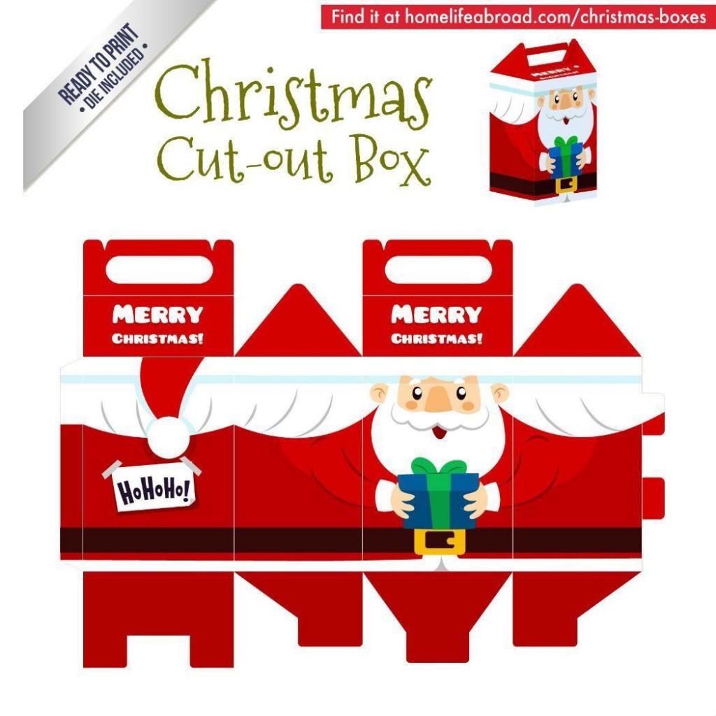 002 Remarkable Christma Gift Box Template Free Printable High Def  TreeLarge