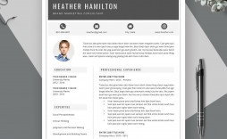 002 Remarkable Creative Resume Template Word Concept  Professional Free Download Example Editable