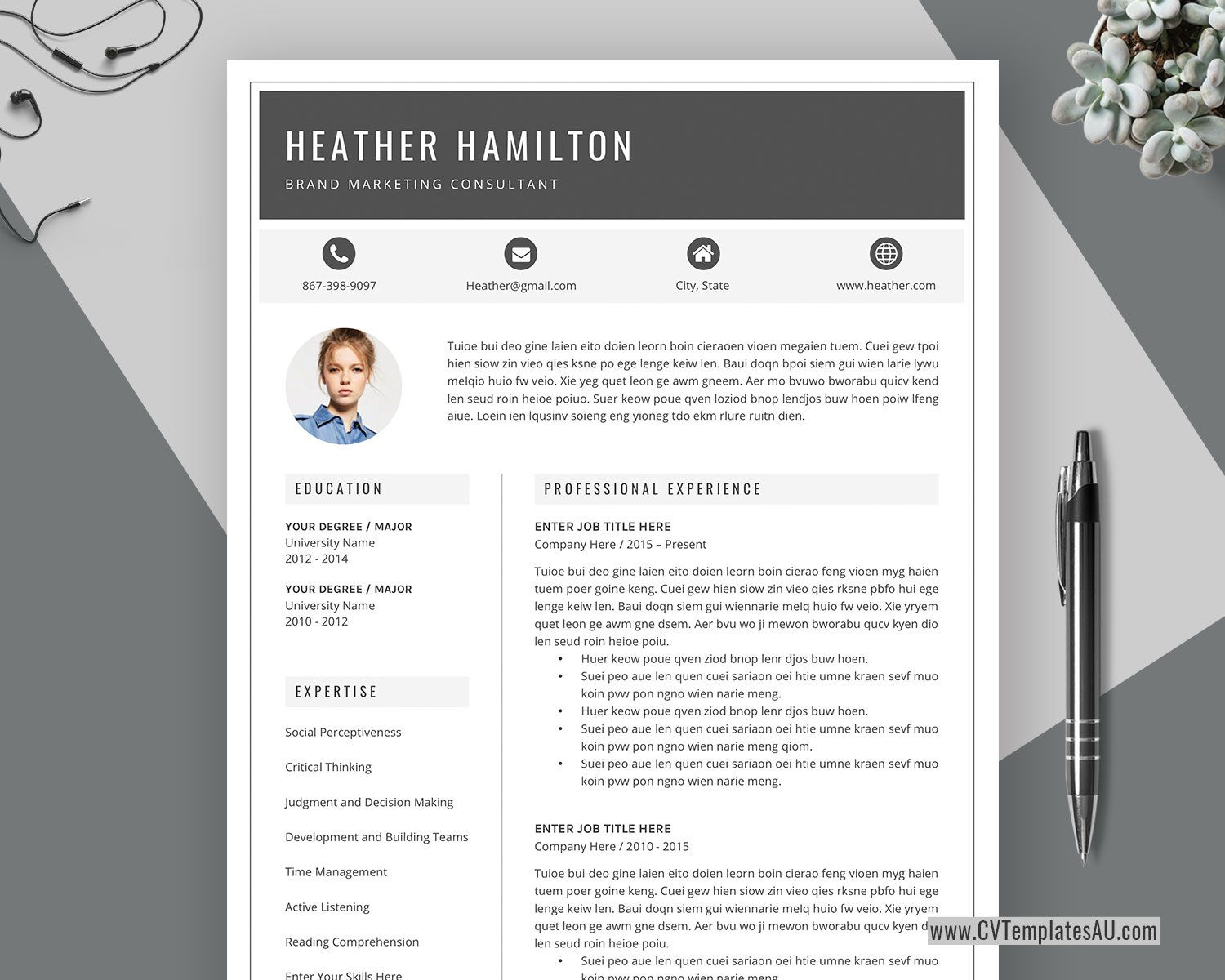 002 Remarkable Creative Resume Template Word Concept  Professional Free Download Example EditableFull