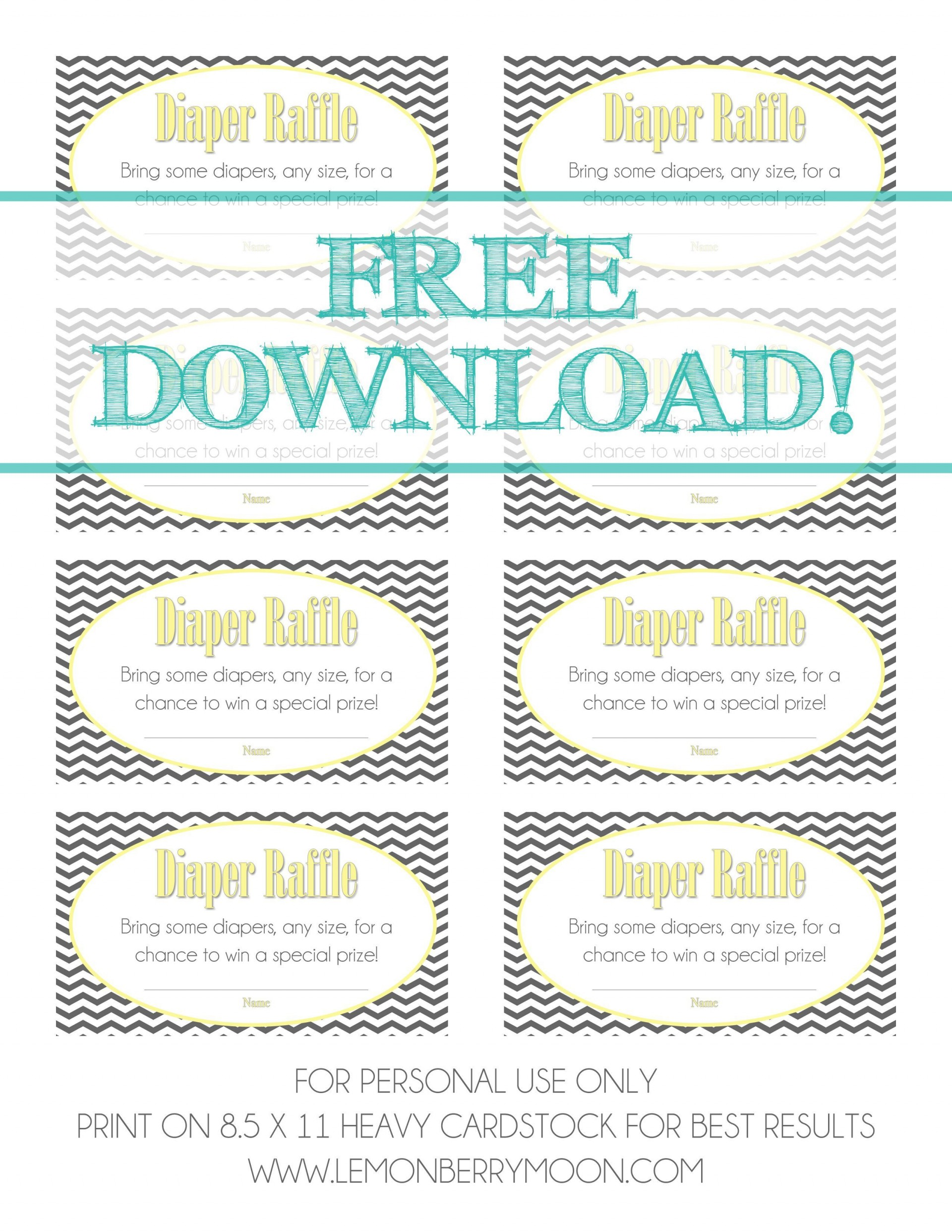 002 Remarkable Diaper Raffle Ticket Template Highest Quality  Free Printable Download1920