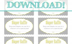 002 Remarkable Diaper Raffle Ticket Template Highest Quality  Free Printable Download