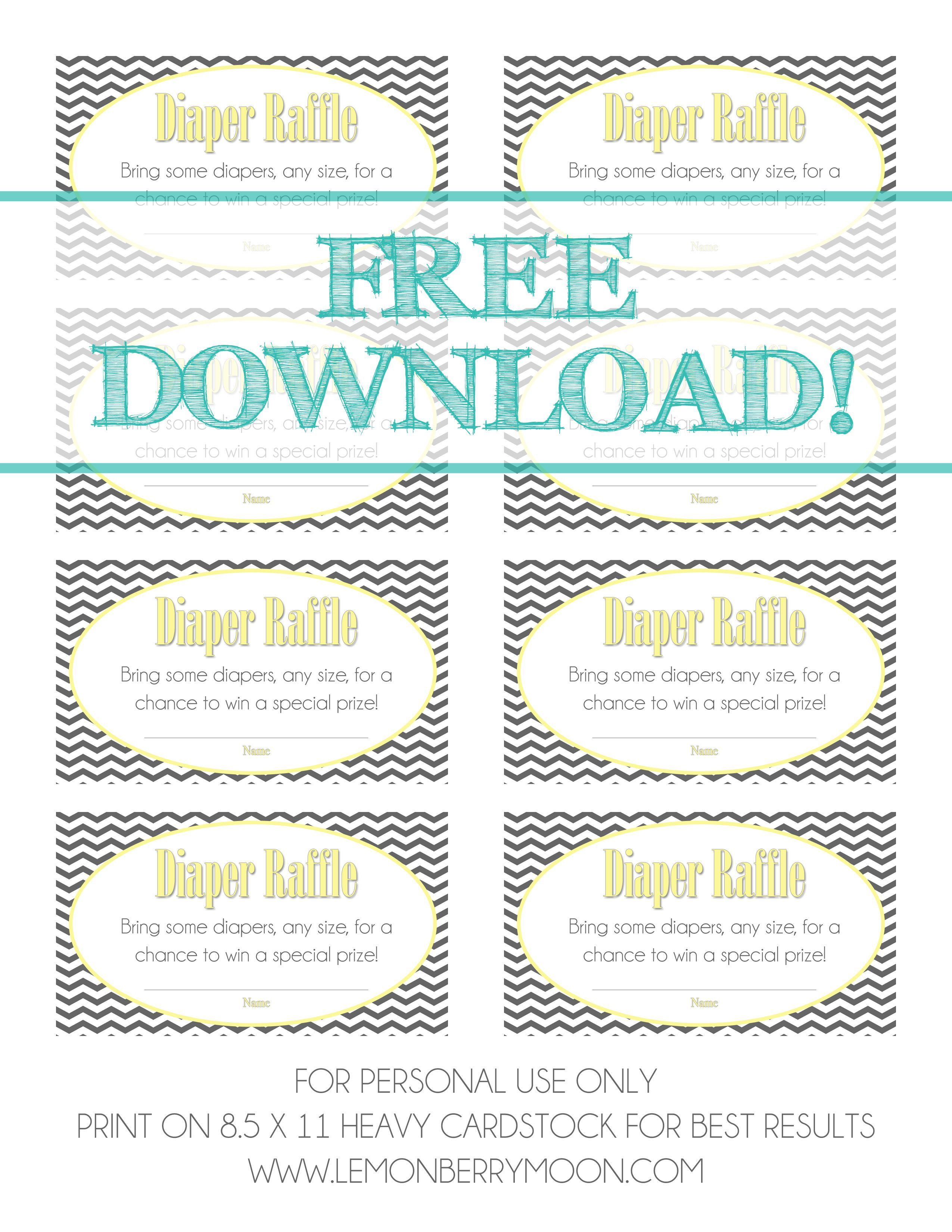 002 Remarkable Diaper Raffle Ticket Template Highest Quality  Free Printable DownloadFull