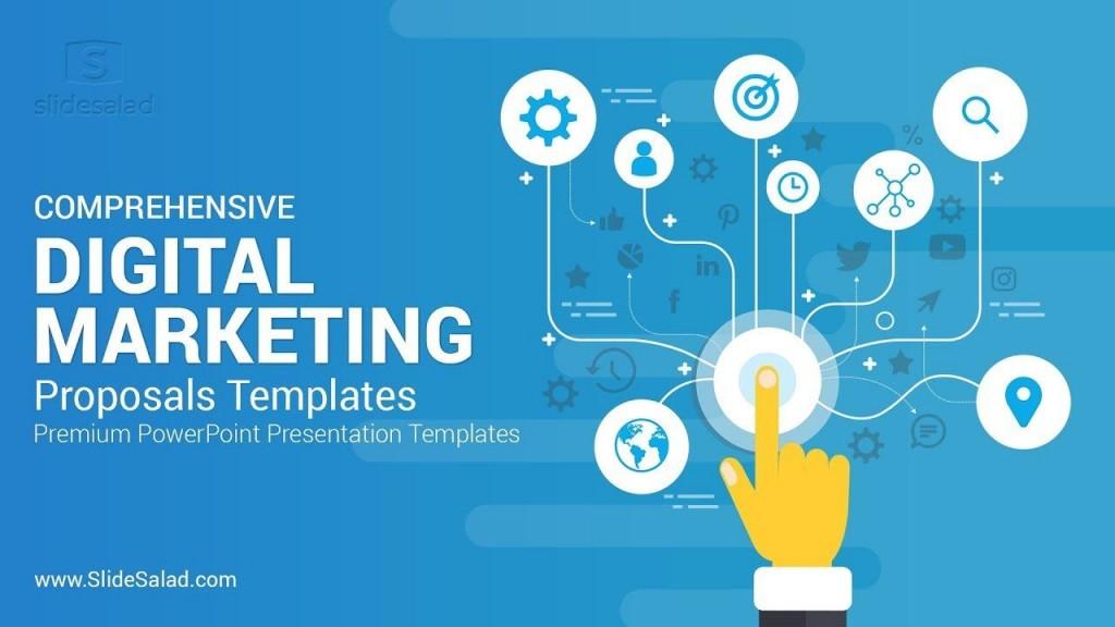 002 Remarkable Digital Marketing Plan Sample Ppt Picture Large
