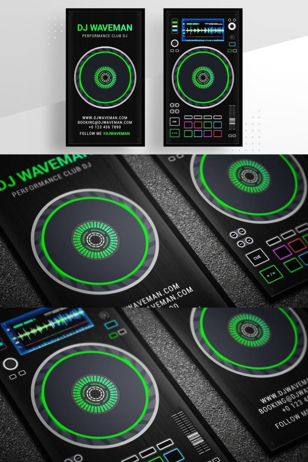 002 Remarkable Dj Busines Card Template High Resolution  Psd Free DownloadLarge