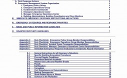 002 Remarkable Emergency Operation Plan Template Picture  For Churche Fema Basic