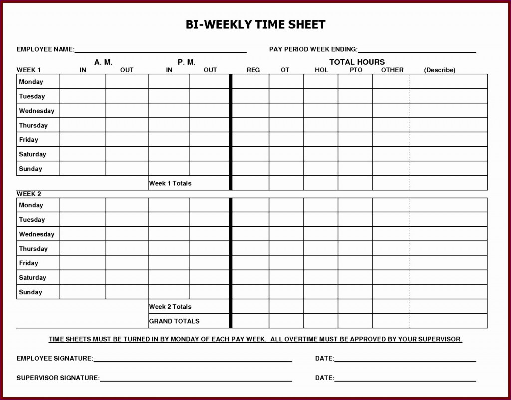 002 Remarkable Employee Monthly Time Card Template Highest Clarity Large