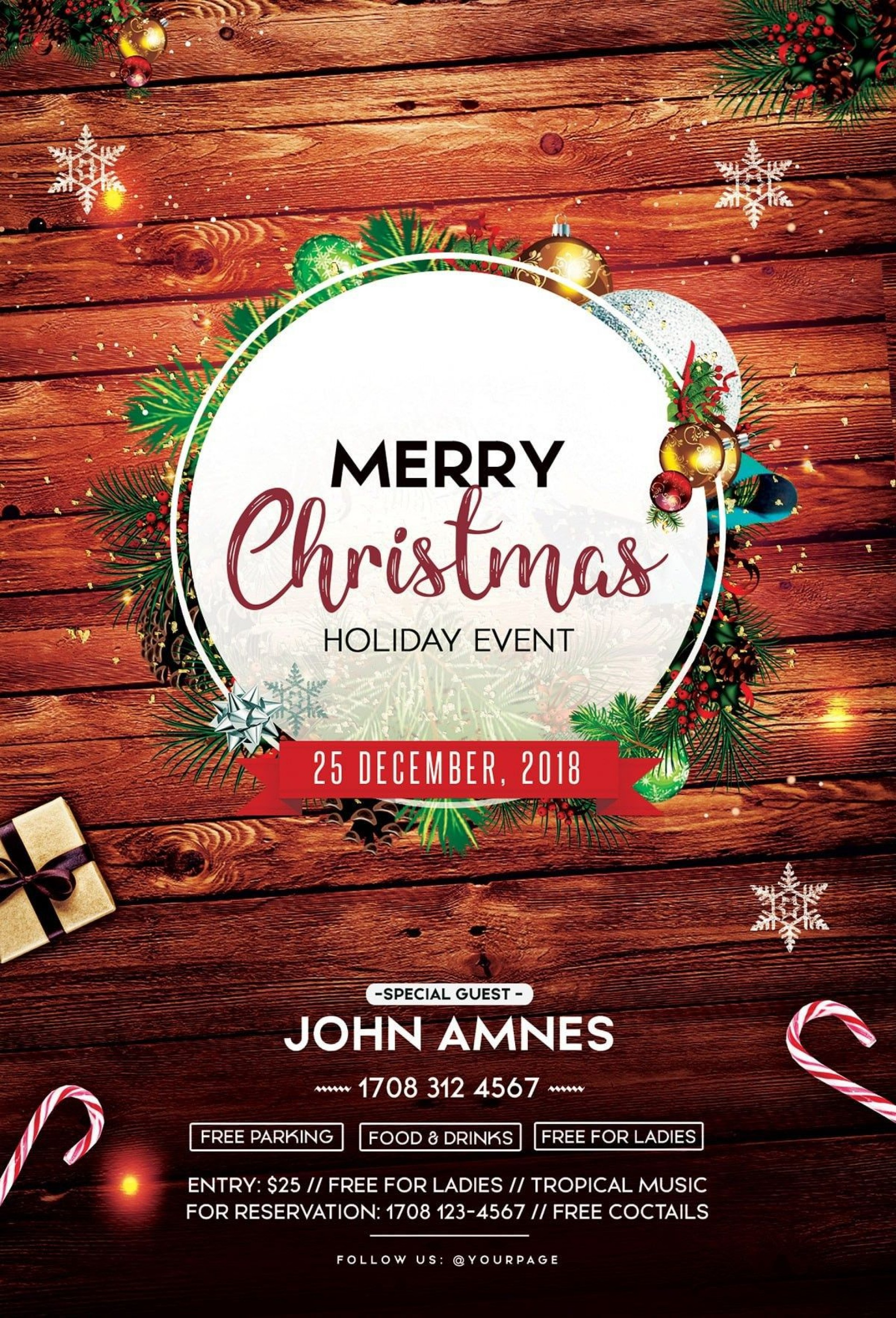 002 Remarkable Free Christma Poster Template High Resolution  Uk Party Download Fair1920