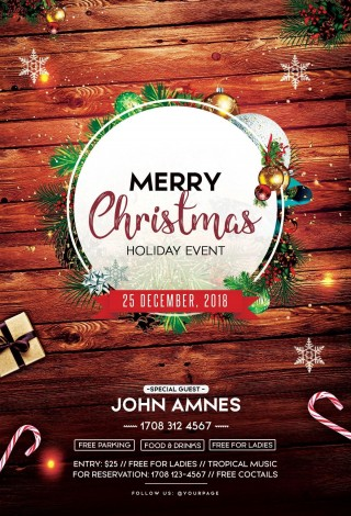 002 Remarkable Free Christma Poster Template High Resolution  Uk Party Download Fair320