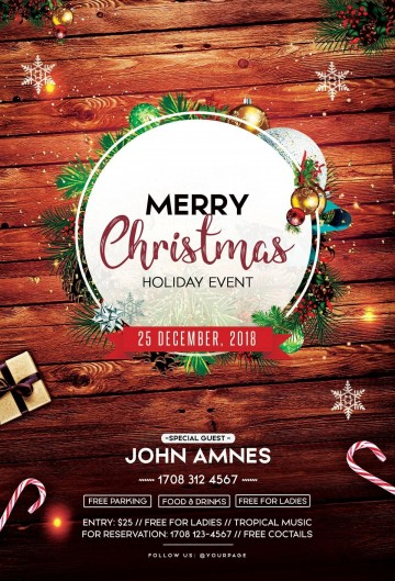 002 Remarkable Free Christma Poster Template High Resolution  Uk Party Download Fair360