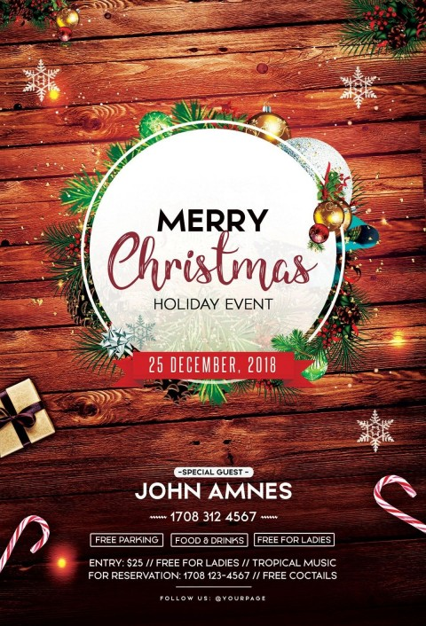 002 Remarkable Free Christma Poster Template High Resolution  Uk Party Download Fair480