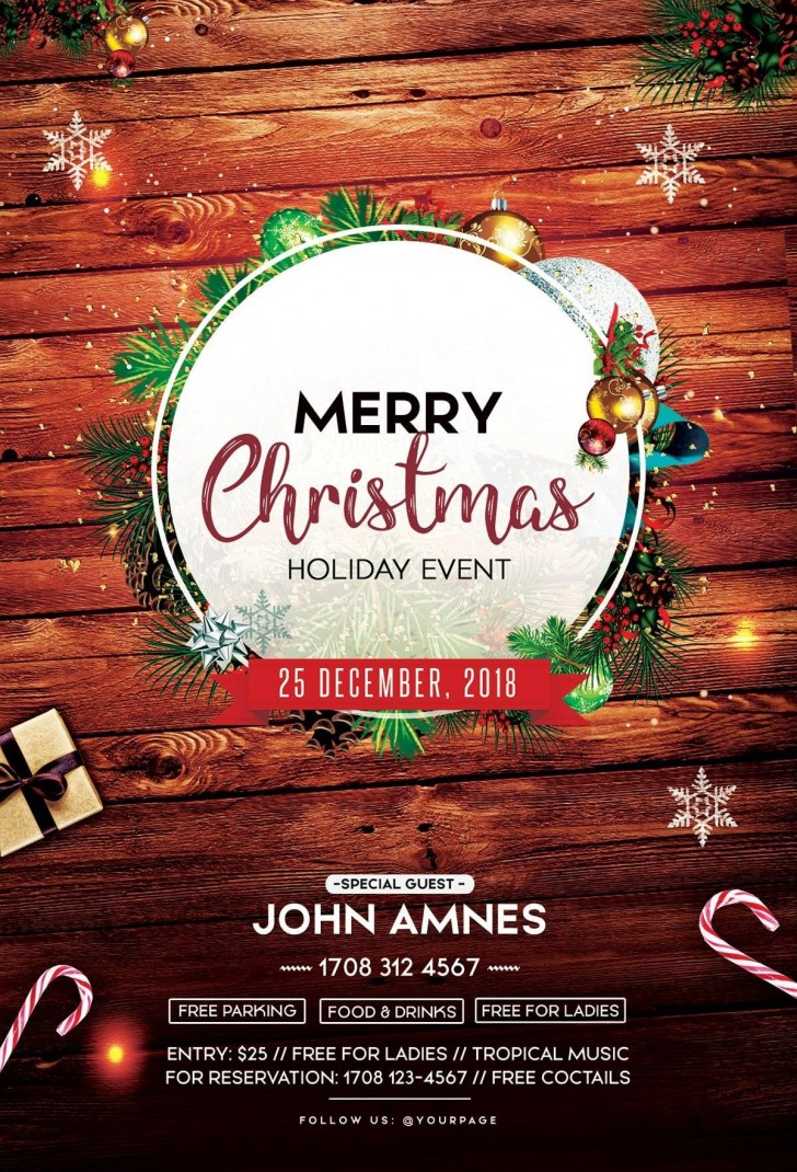 002 Remarkable Free Christma Poster Template High Resolution  Uk Party Download Fair728