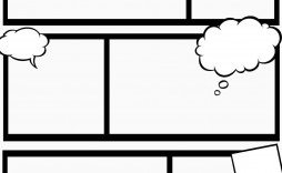 002 Remarkable Free Comic Strip Template Word Image