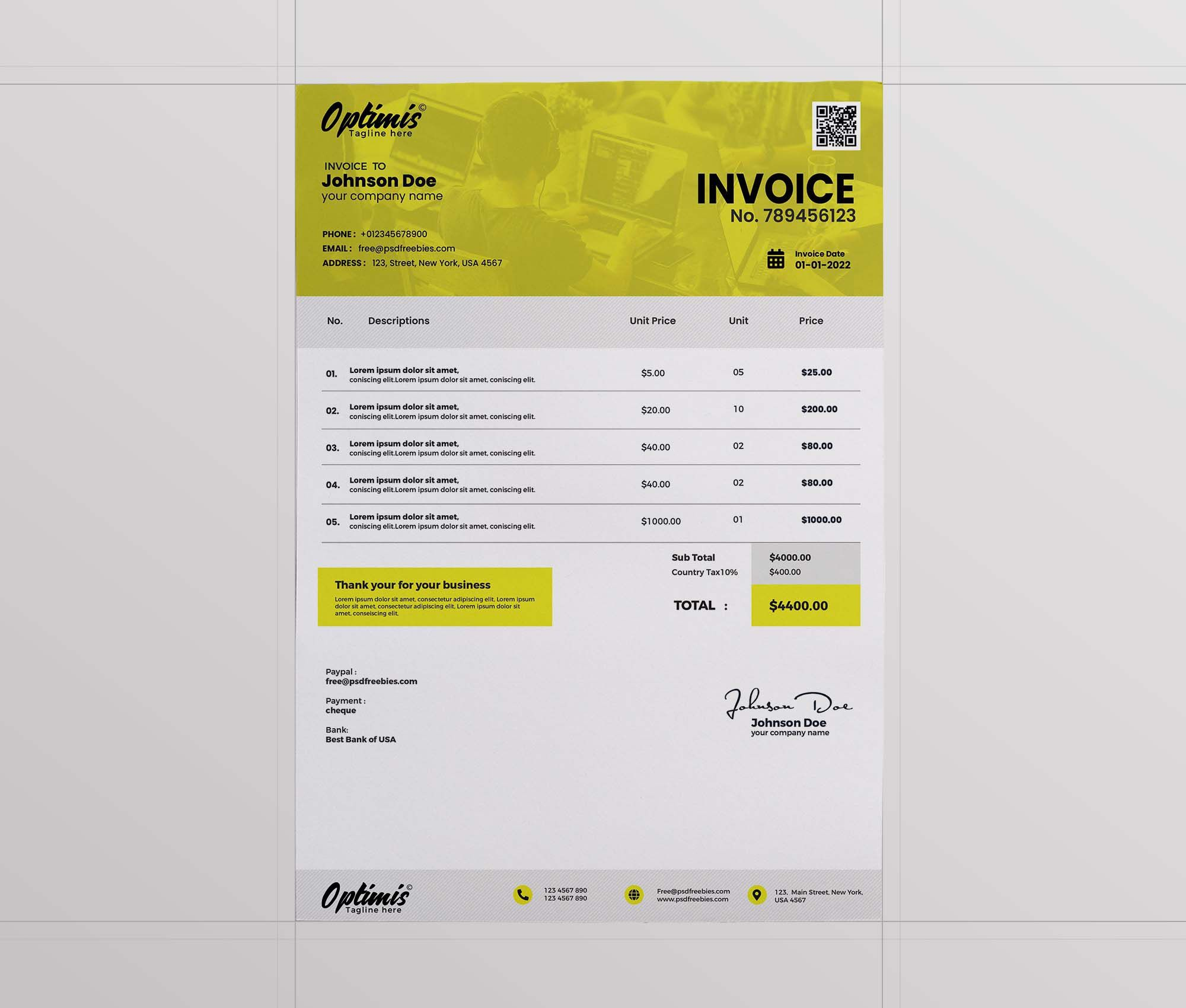 002 Remarkable Free Downloadable Invoice Template Highest Quality  Templates Excel Printable Word SampleFull