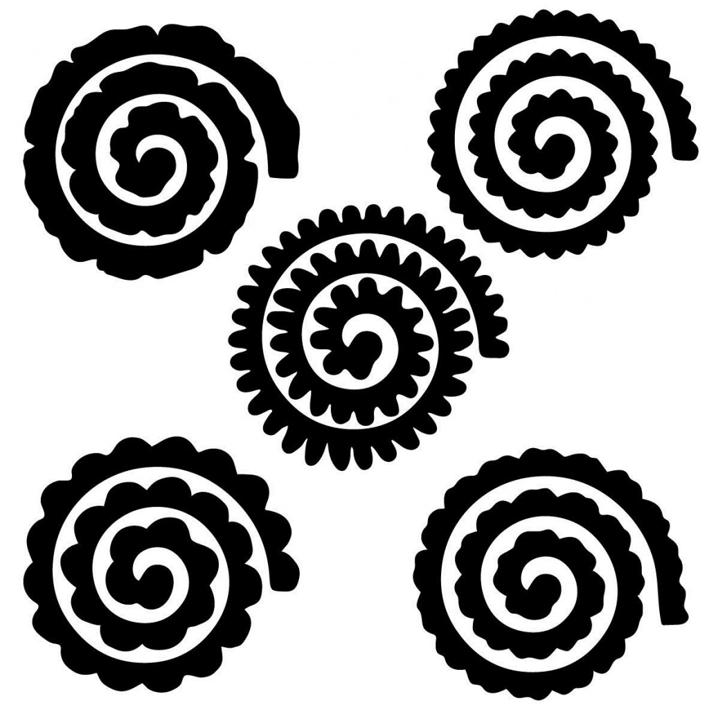 002 Remarkable Free Rolled Paper Flower Template For Cricut Inspiration Large