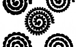 002 Remarkable Free Rolled Paper Flower Template For Cricut Inspiration