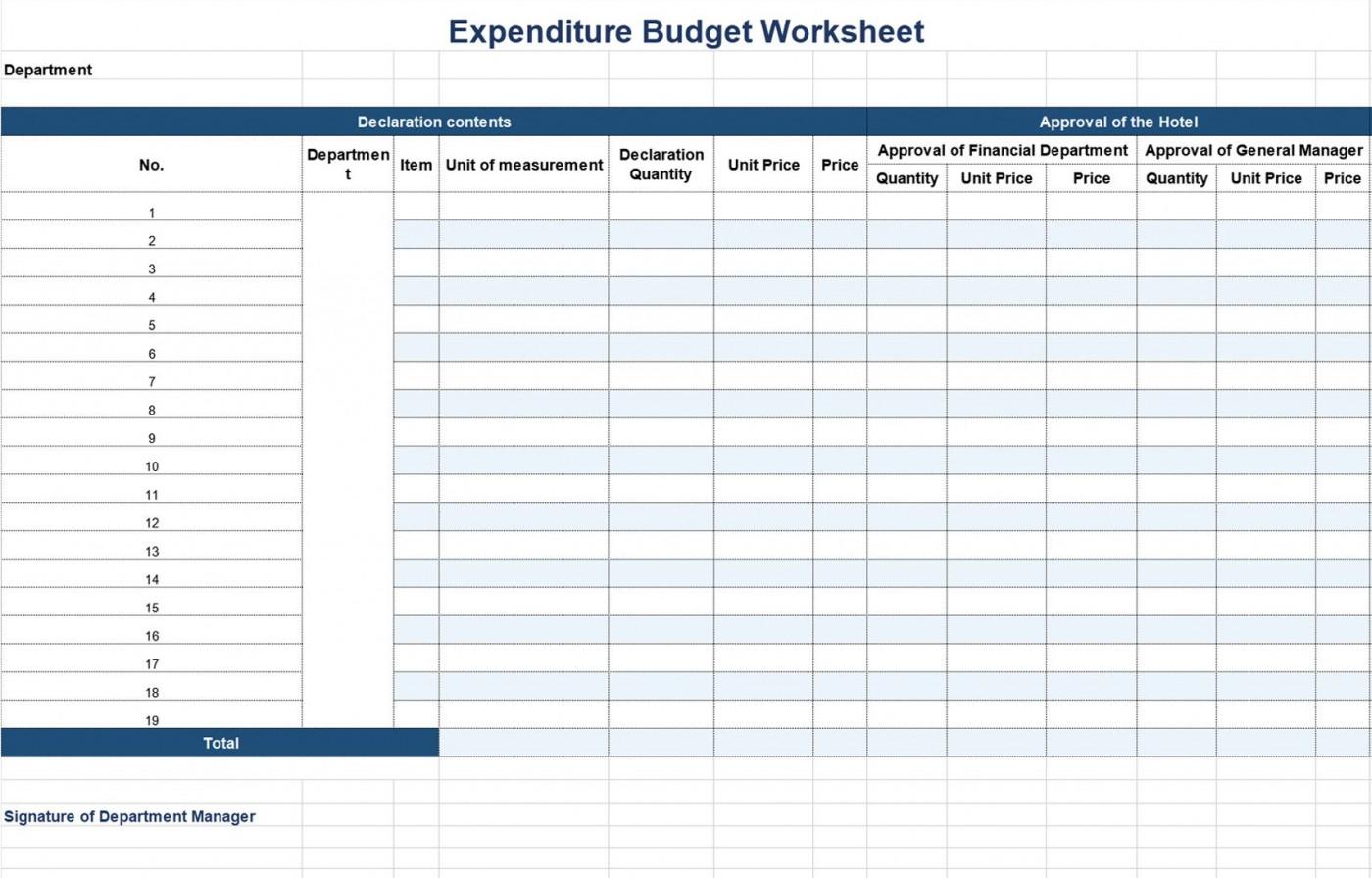 002 Remarkable Line Item Budget Form Sample  Template Spreadsheet Format1400