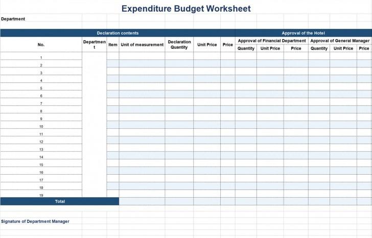 002 Remarkable Line Item Budget Form Sample  Template Spreadsheet Format728