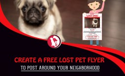 002 Remarkable Lost Dog Flyer Template Concept  Missing Pet Free Download