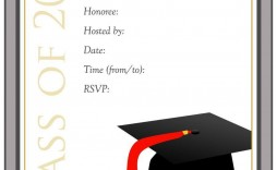 002 Remarkable Microsoft Word Graduation Party Invitation Template Design