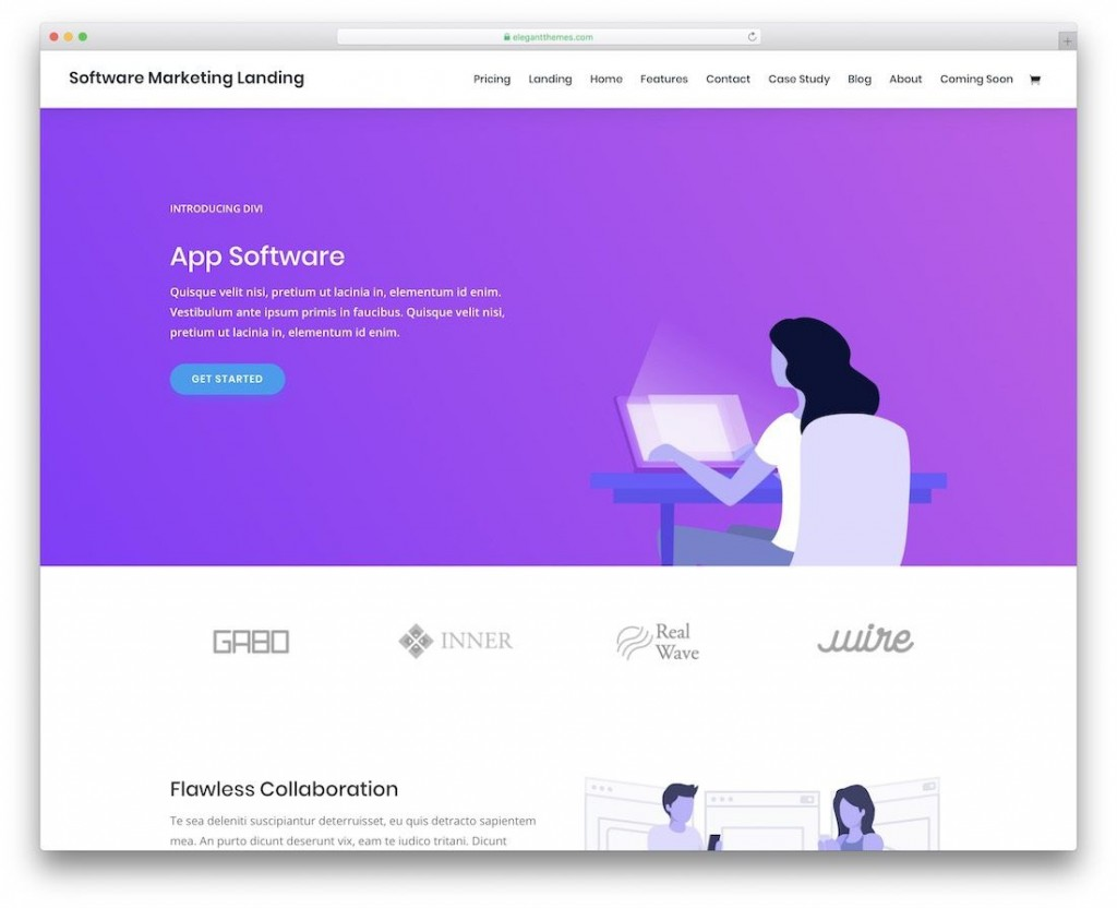 002 Remarkable One Page Website Template Free Image  Bootstrap 4 Html5 Download WordpresLarge