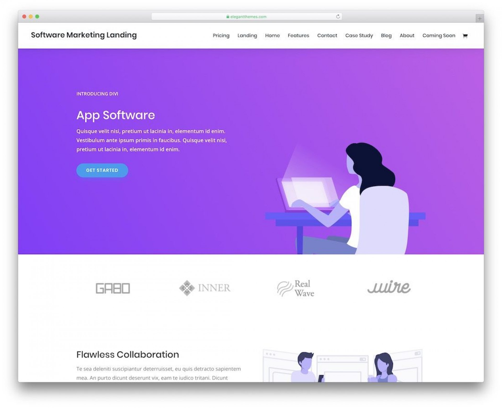 002 Remarkable One Page Website Template Free Image  Bootstrap 4 Html5 Download Wordpres1920