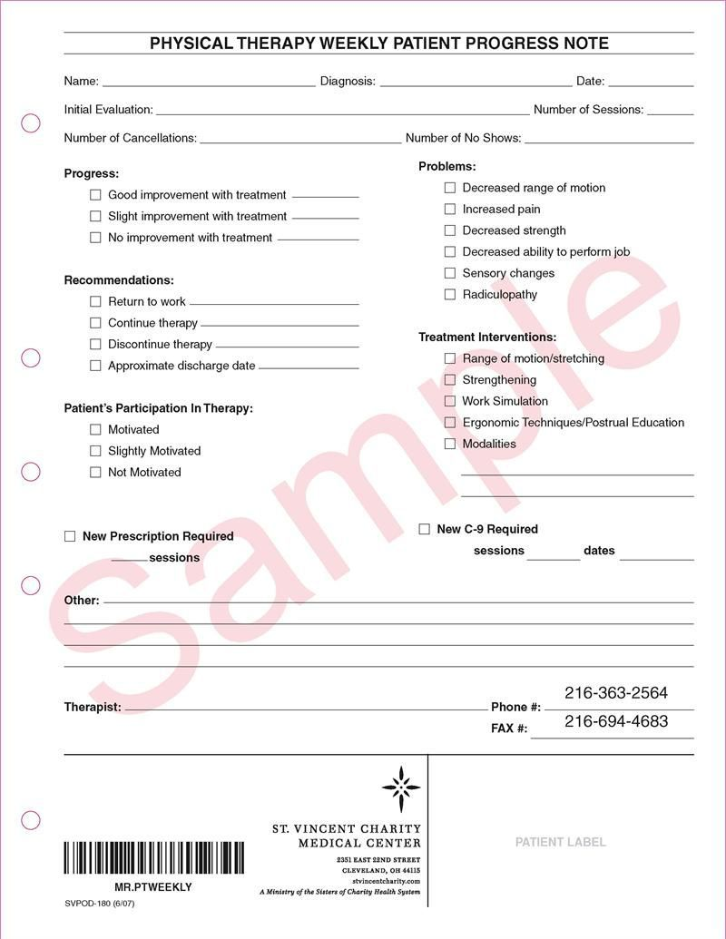 002 Remarkable Physical Therapy Progres Note Template Image  Outpatient PdfFull