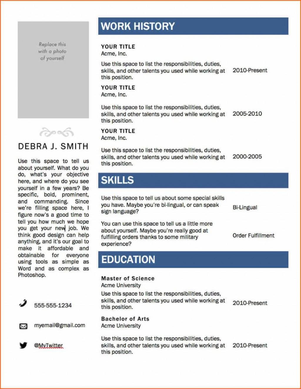 002 Remarkable Resume Template Microsoft Word 2020 Design  FreeLarge