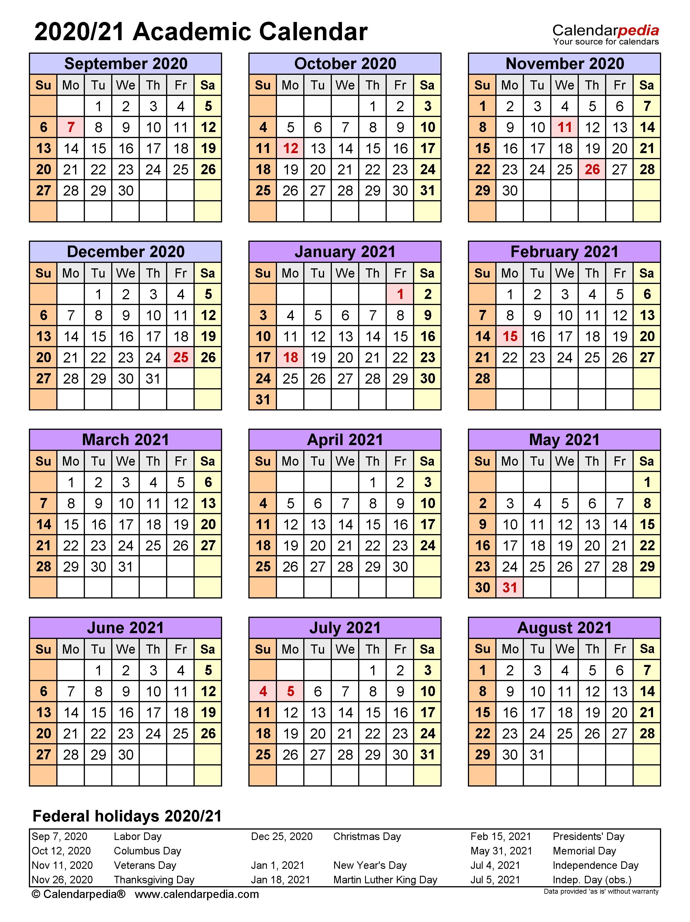 002 Remarkable School Year Calendar Template High Resolution  Excel 2019-20 WordFull
