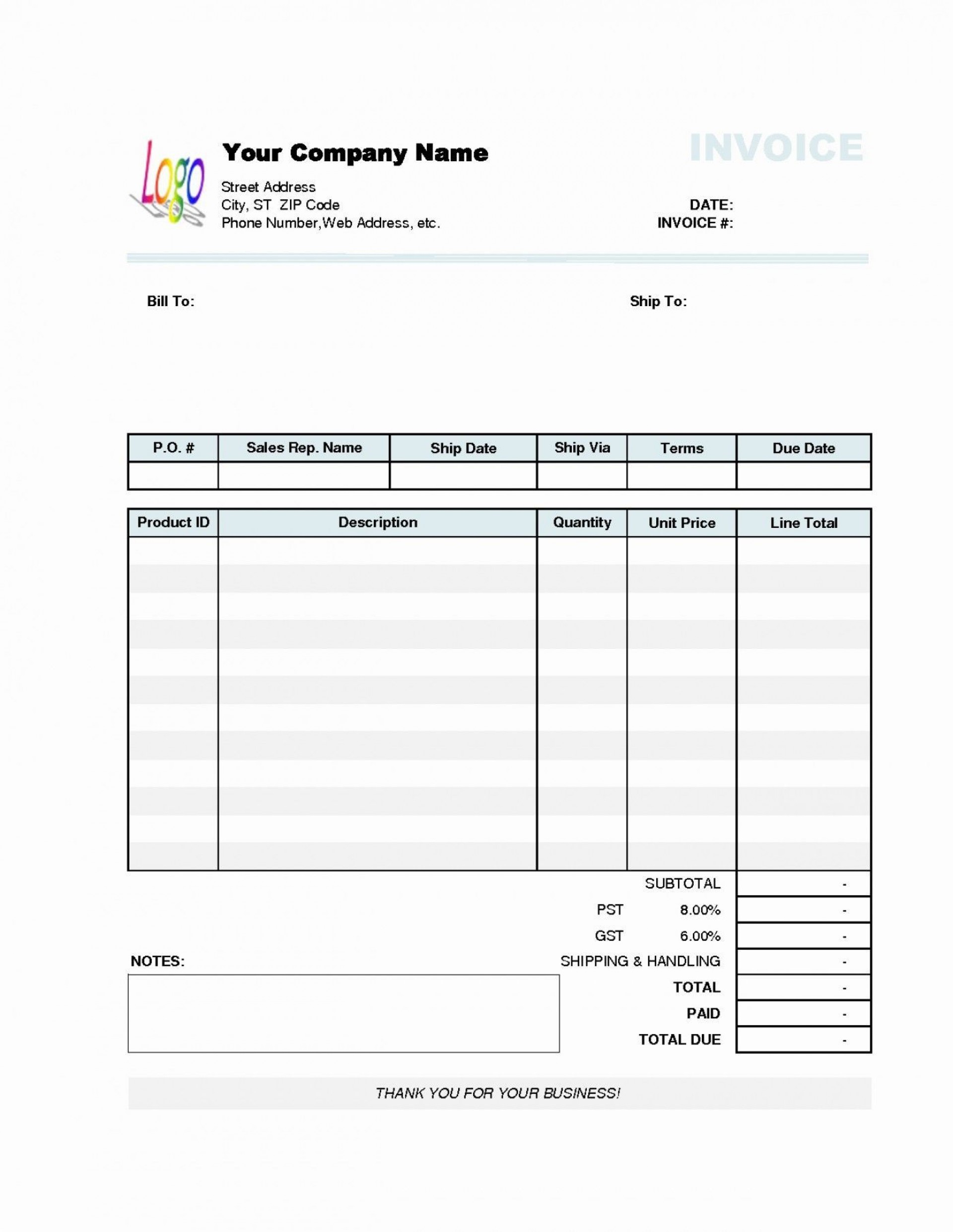 002 Remarkable Simple Invoice Template Word Sample  Cash Receipt Doc Download Microsoft1920