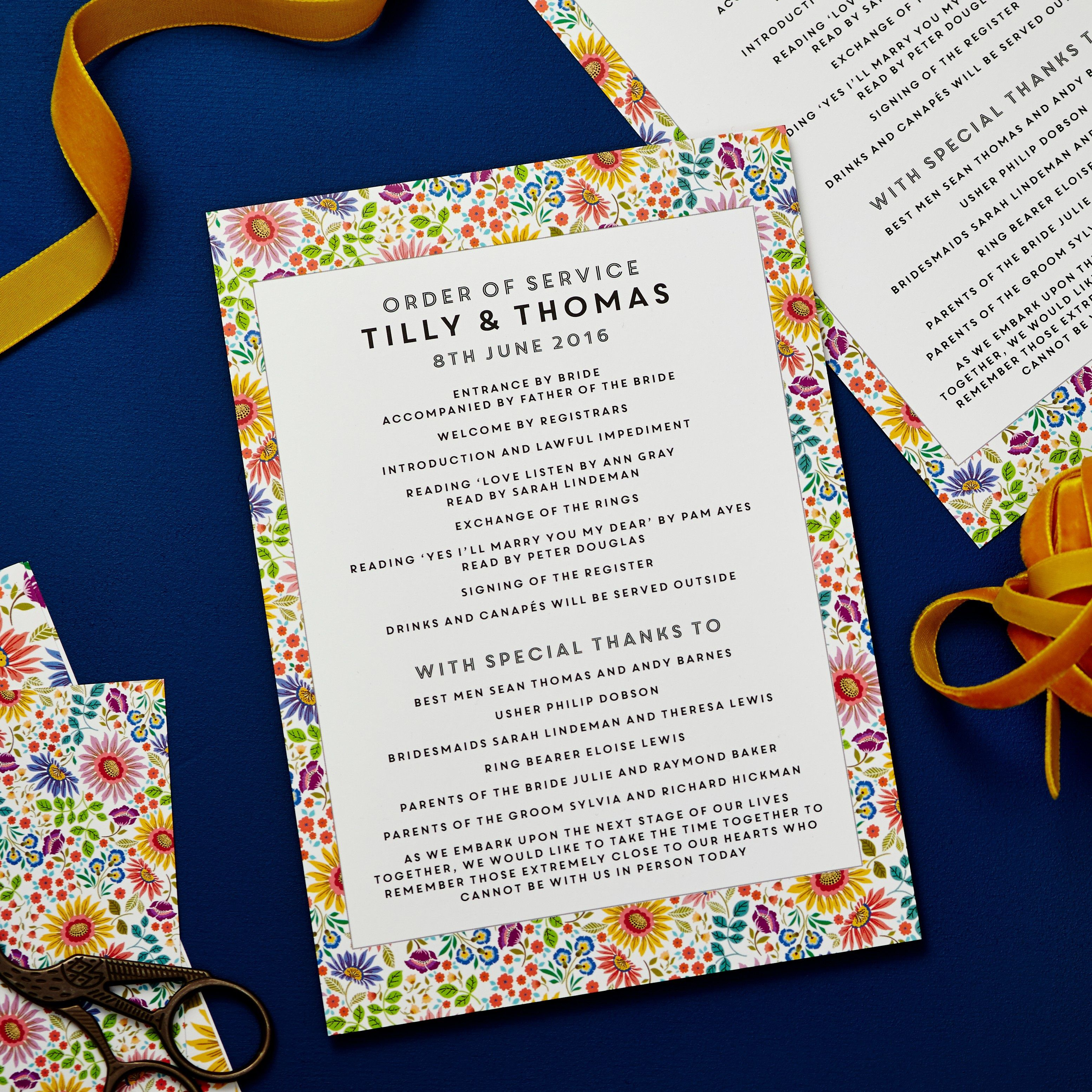 002 Remarkable Traditional Wedding Order Of Service Template Uk Image Full