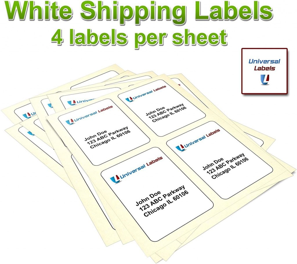 002 Sensational 4x6 Shipping Label Template Word High Definition Large