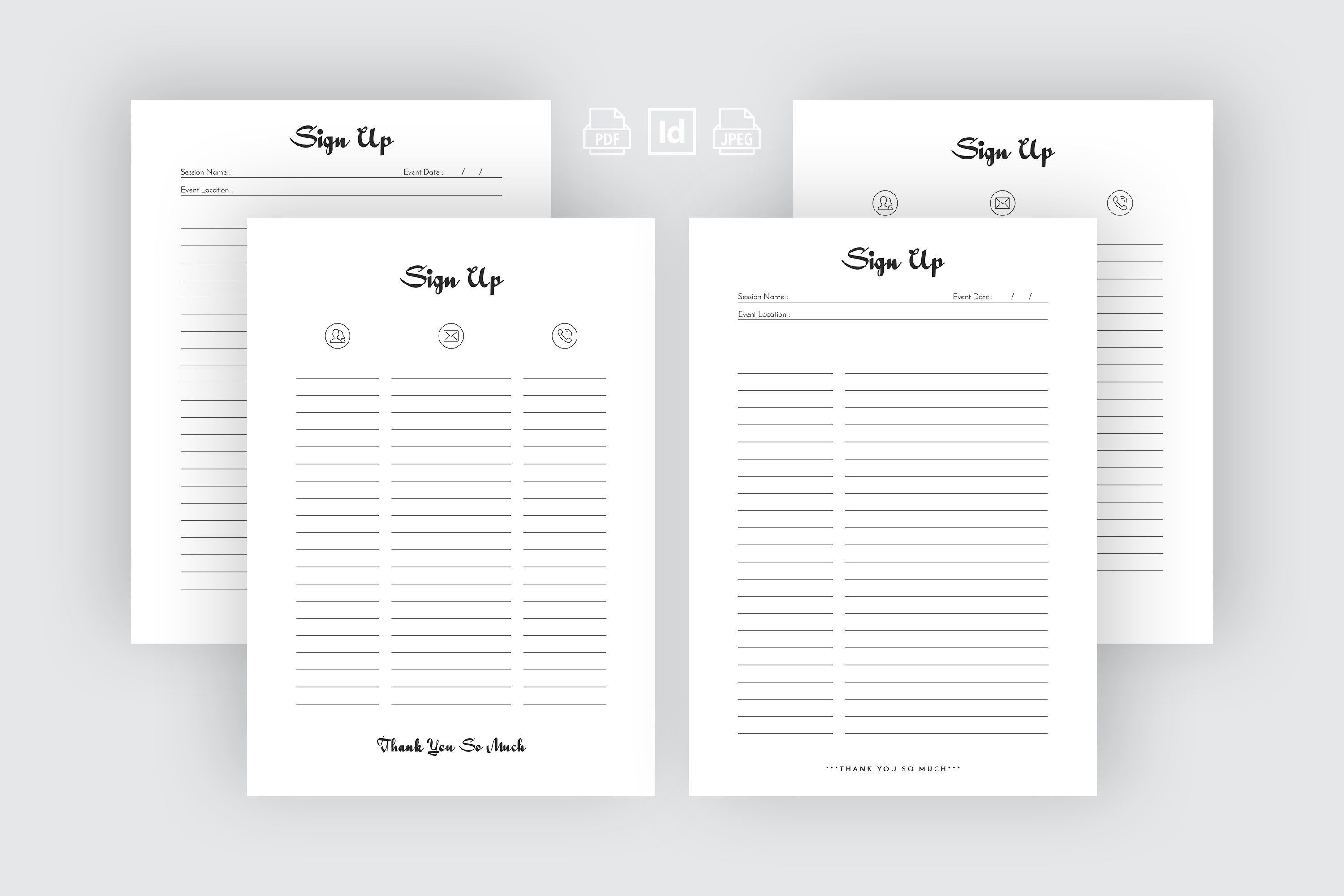 002 Sensational Email Sign Up Template High Resolution  Sheet Google DocFull