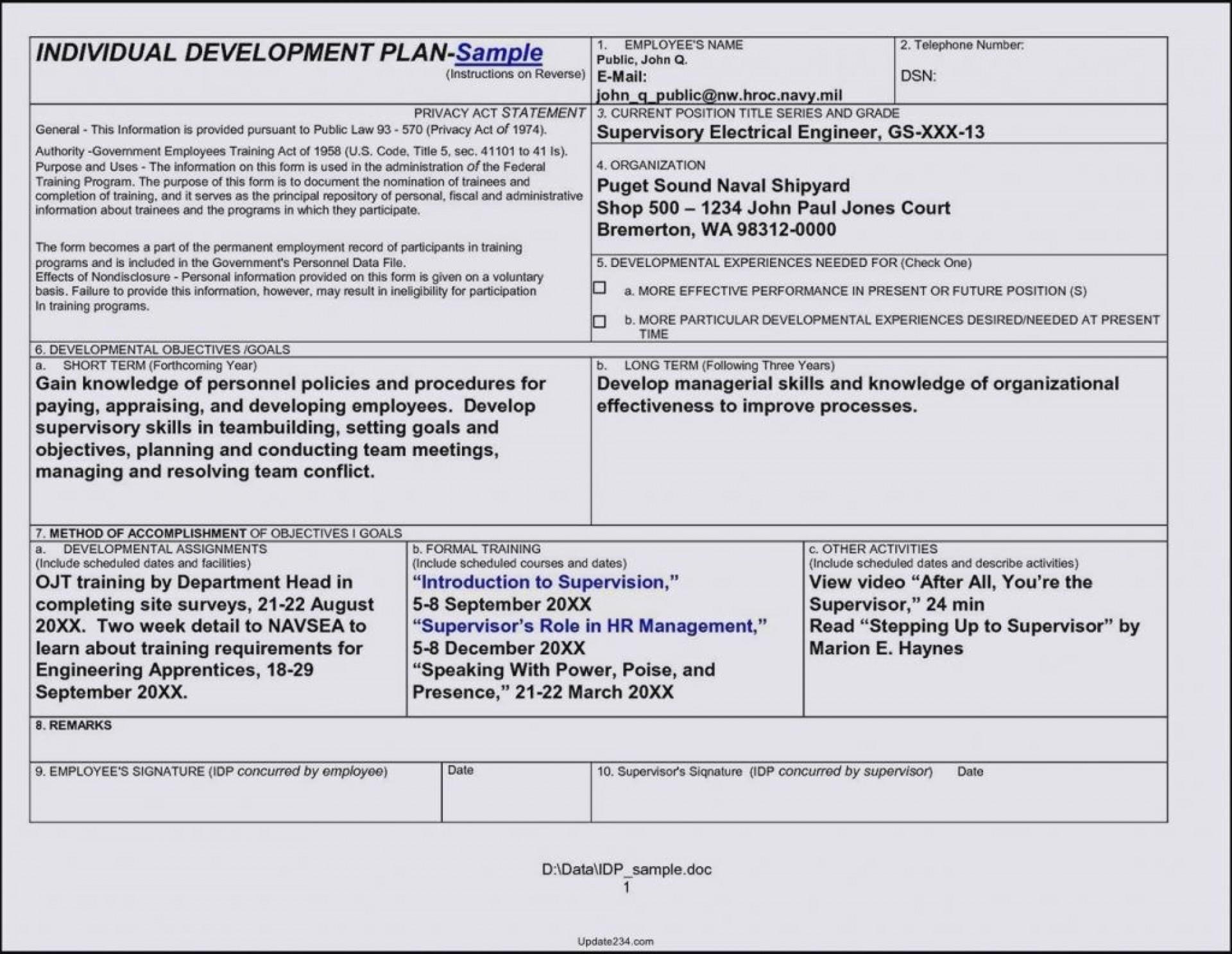 002 Sensational Employee Development Action Plan Example Idea  Examples1920