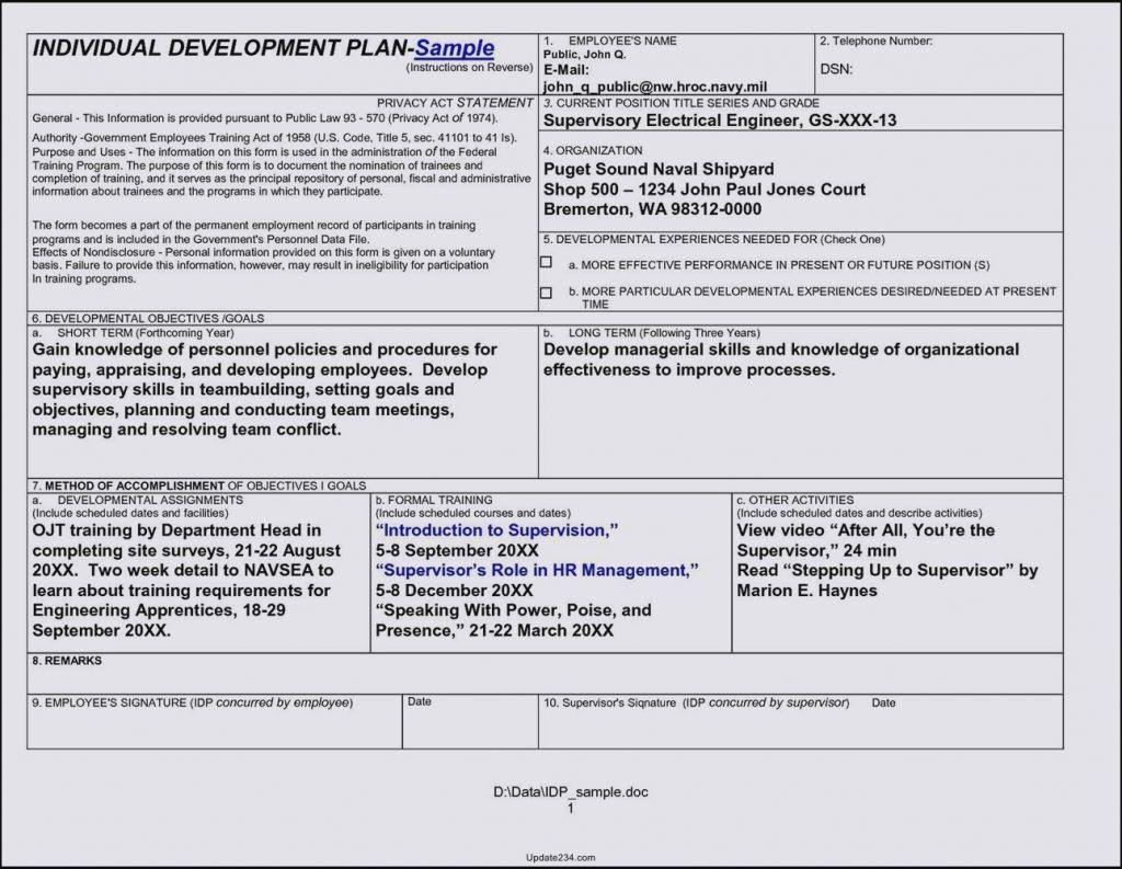 002 Sensational Employee Development Action Plan Example Idea  ExamplesFull