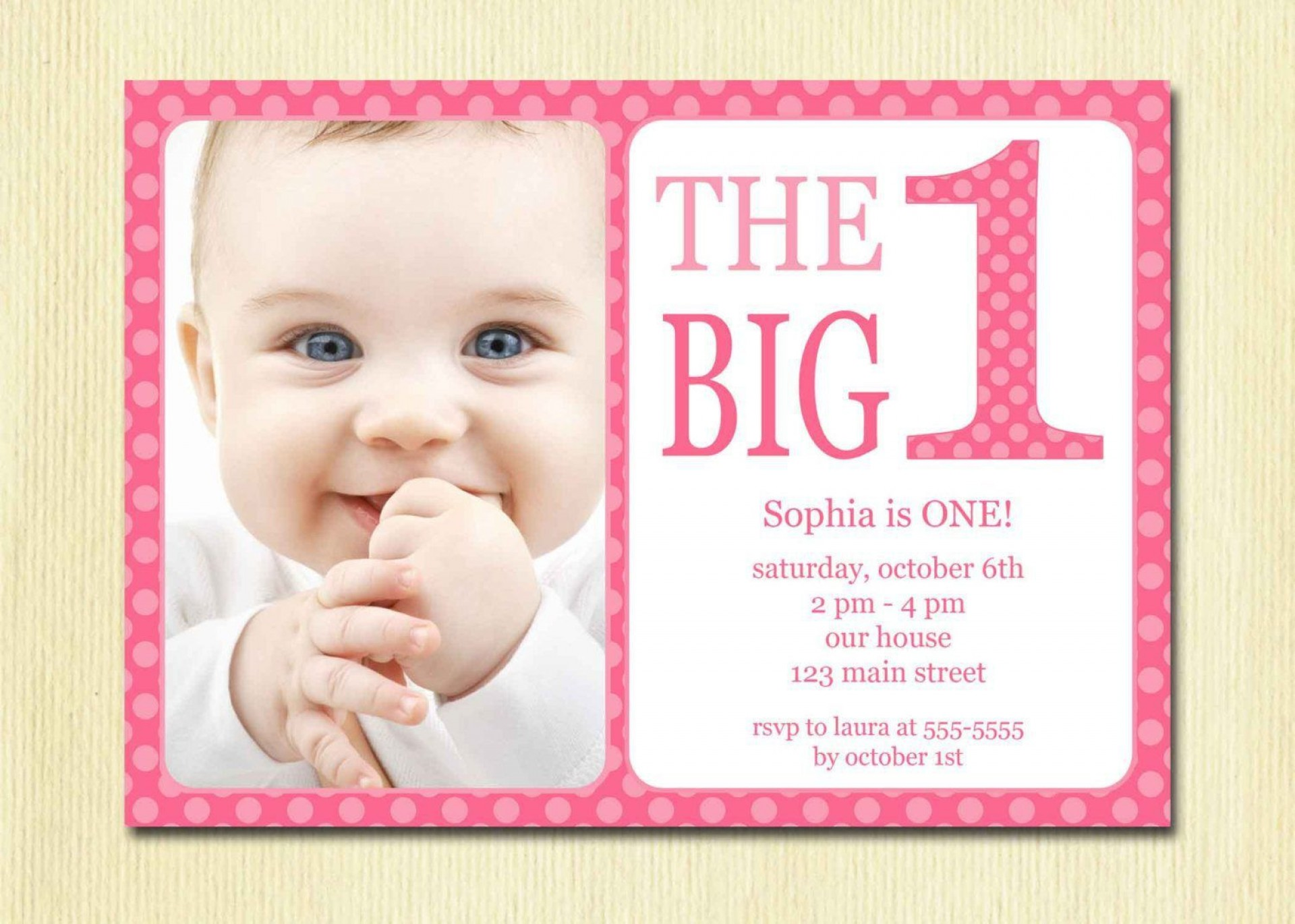 002 Sensational Free 1st Birthday Invitation Template For Word Highest Clarity 1920