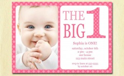 002 Sensational Free 1st Birthday Invitation Template For Word Highest Clarity