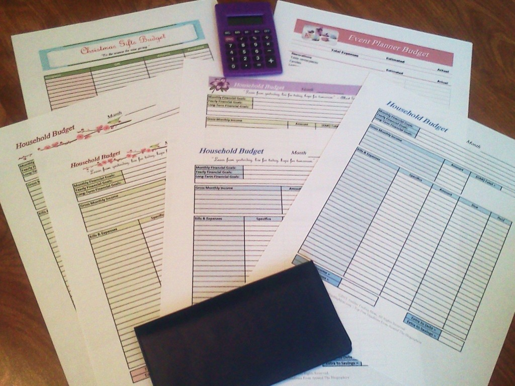 002 Sensational Free Printable Monthly Household Budget Template Photo  ExpenseLarge