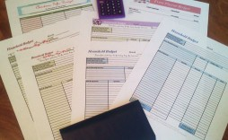 002 Sensational Free Printable Monthly Household Budget Template Photo  Expense