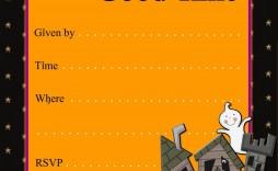 002 Sensational Halloween Party Invitation Template High Def  Microsoft Block October