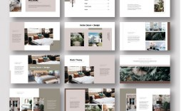 002 Sensational Interior Design Portfolio Template Image  Ppt Free Download Layout