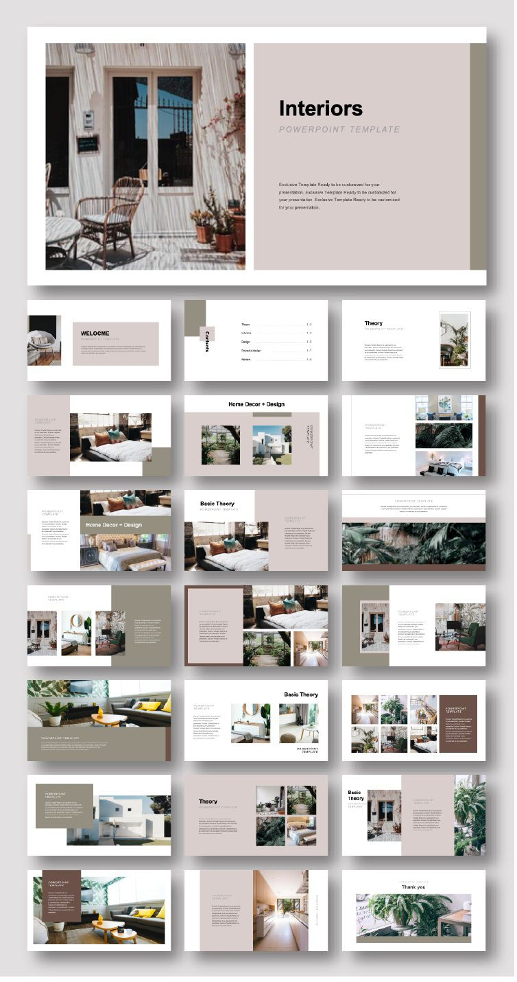 002 Sensational Interior Design Portfolio Template Image  Ppt Free Download LayoutFull