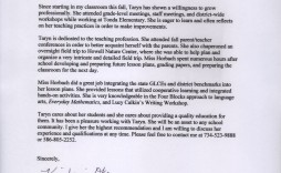 002 Sensational Letter Of Recommendation For Student Teacher From Cooperating Template Highest Quality