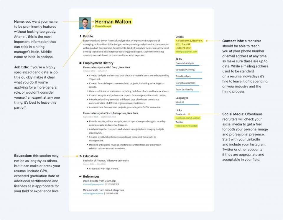 002 Sensational Make A Resume Template Image  Create For Free How To Good960