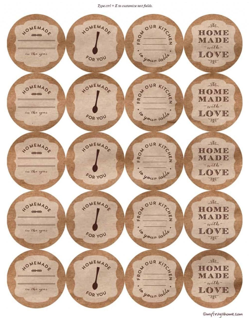 002 Sensational Mason Jar Label Template Idea  Word AveryLarge