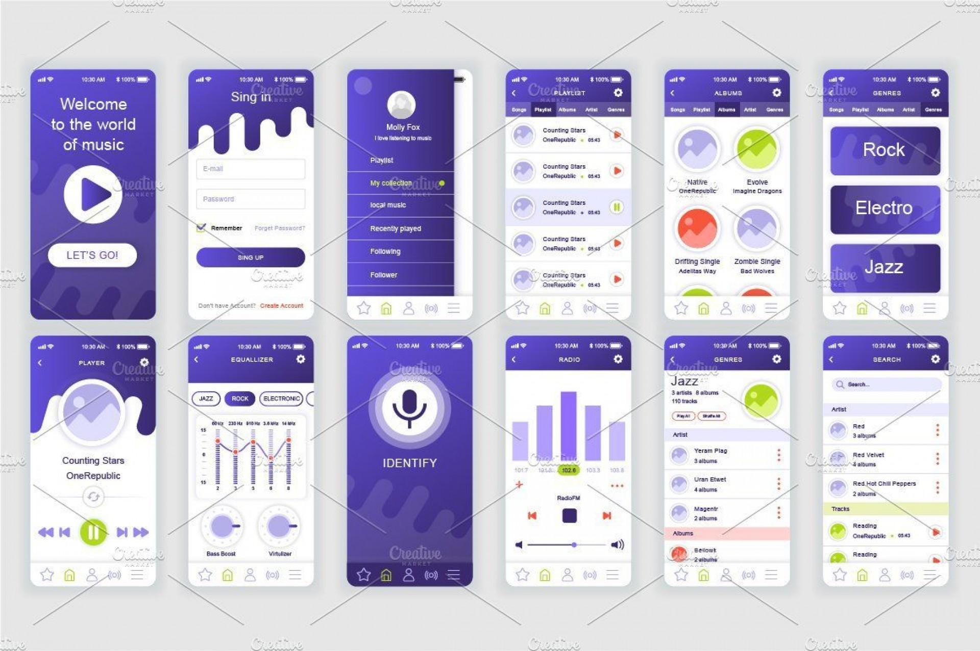002 Sensational Mobile App Design Template Inspiration  Size Free Download Ui Psd1920