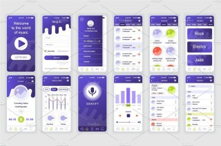 002 Sensational Mobile App Design Template Inspiration  Size Adobe Xd Ui Psd Free Download320