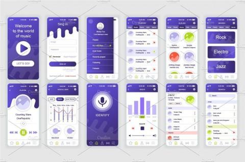 002 Sensational Mobile App Design Template Inspiration  Size Adobe Xd Ui Psd Free Download480
