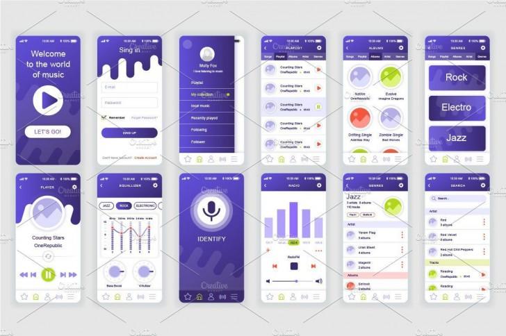 002 Sensational Mobile App Design Template Inspiration  Size Adobe Xd Ui Psd Free Download728